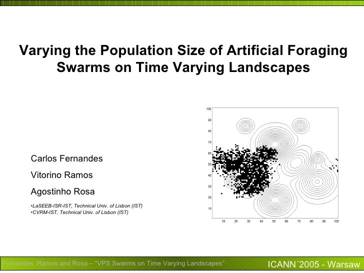 Varying the Population Size of Artificial Foraging          Swarms on Time Varying Landscapes        Carlos Fernandes     ...