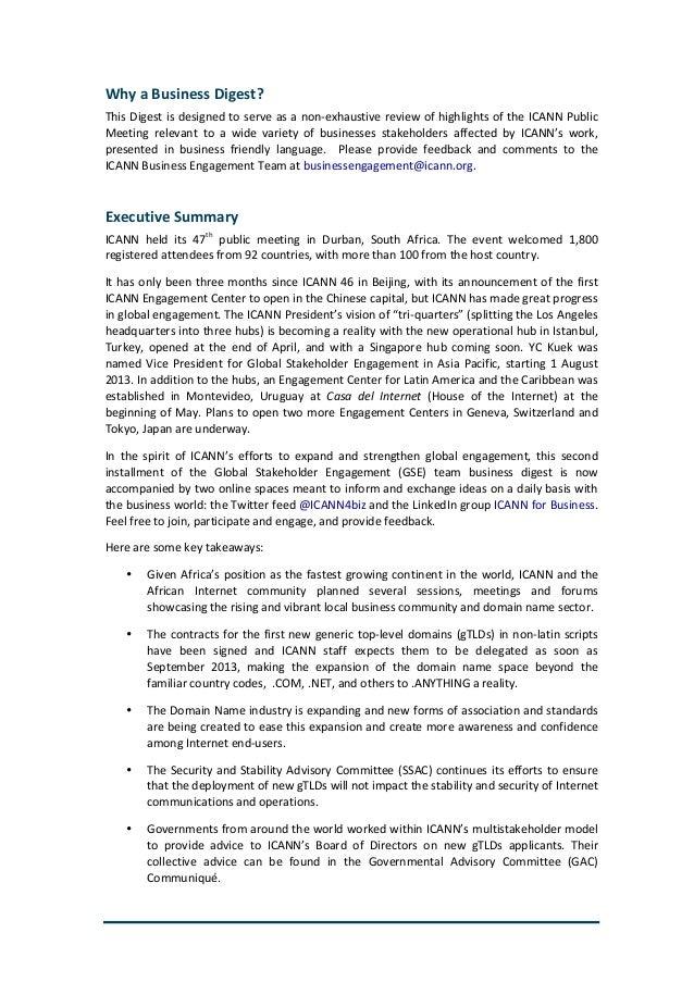 ICANN 47 Business Digest