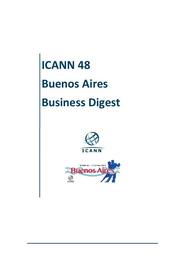 ICANN 48 Buenos Aires Business Digest