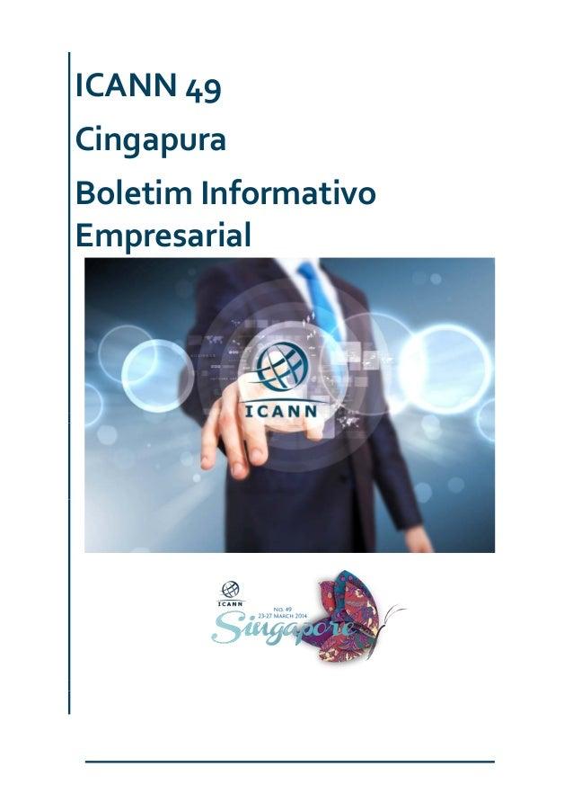 ICANN 49 Cingapura Boletim Informativo Empresarial