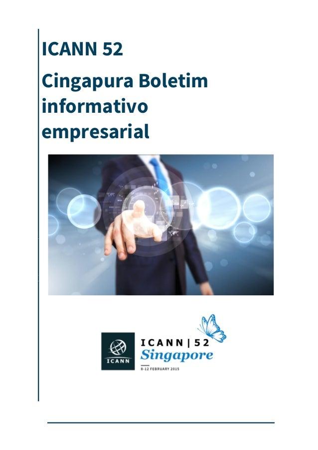 ICANN 52 Cingapura Boletim informativo empresarial