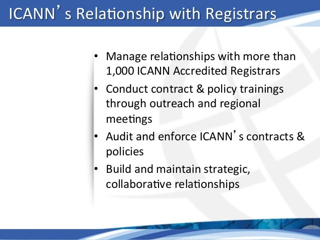 Whats Hot At Icann Tim Cole Sr Director Registrar Relations Ica