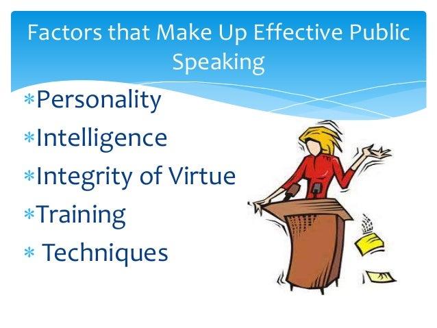 factors of public speaking