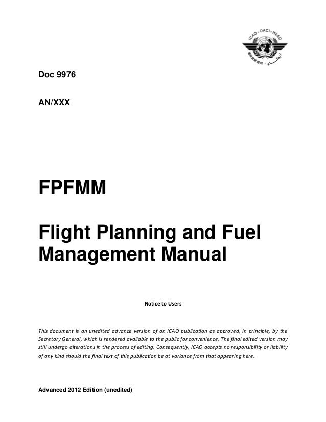Flight Planning and performance manual