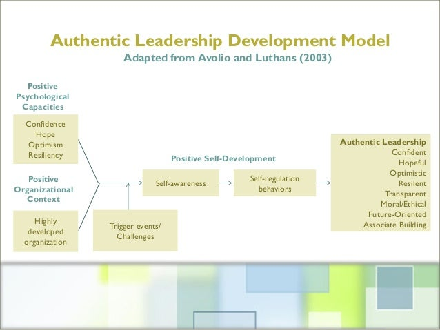 """an analysis of the theory of authentic leadership Bill george, the creator of the authentic leadership approach to  including the """" great man theory"""" and competency-based leadership models previous  an  integrated self is a process of construction and meaning–making."""
