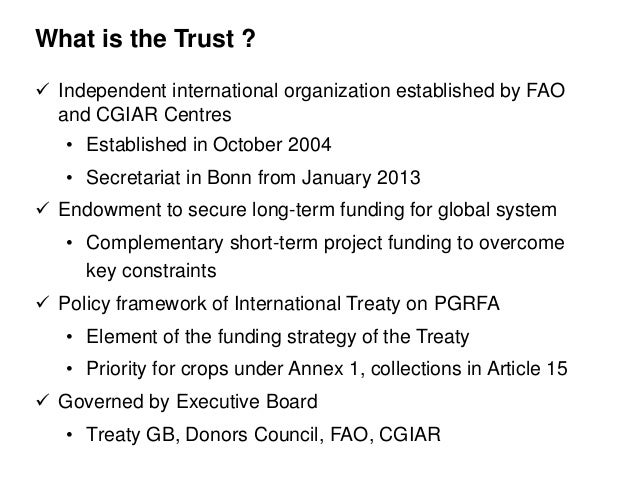 Introduction to the Global Crop Diversity Trust Slide 2