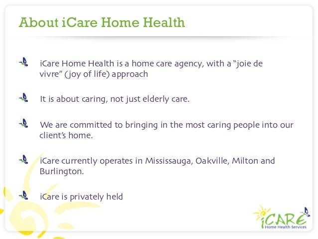 icare home health services company introduction. Black Bedroom Furniture Sets. Home Design Ideas