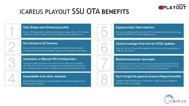 Icareus Products Playout SSU OTA Intro