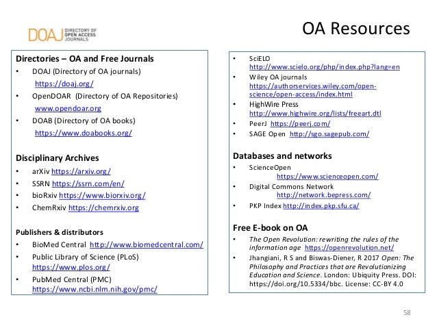 Publishing in Open Access Journals – How DOAJ can help to avoid quest…