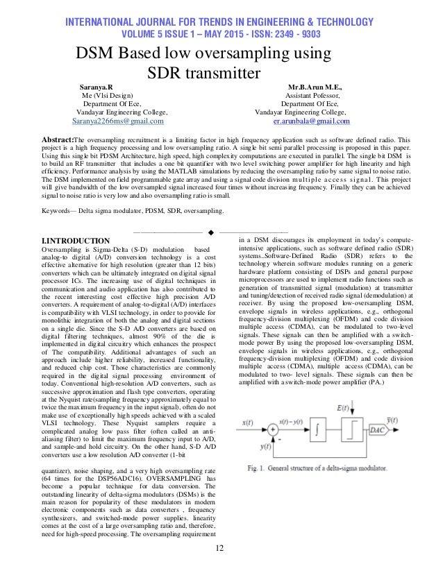 DSM Based low oversampling using SDR transmitter