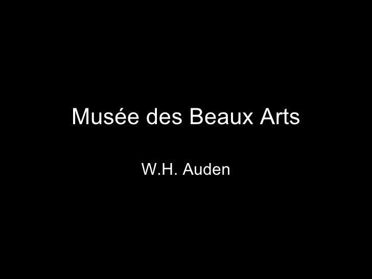 Musée des Beaux Arts W.H. Auden