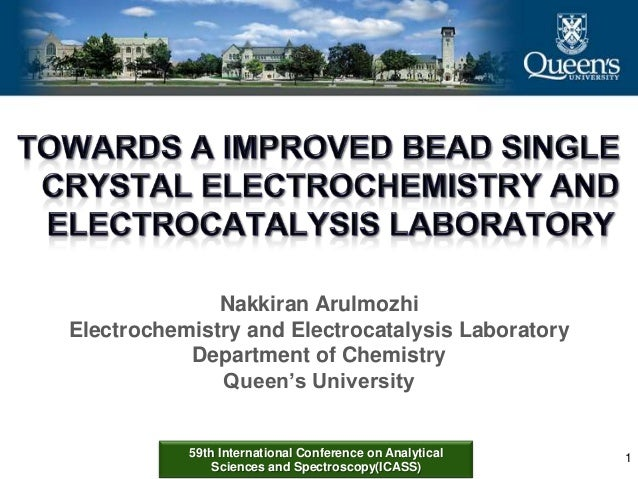 59th International Conference on Analytical Sciences and Spectroscopy(ICASS) Nakkiran Arulmozhi Electrochemistry and Elect...