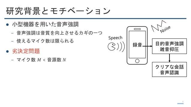 ICASSP2019 音声&音響論文読み会 著者紹介2 (信号処理系2) Slide 3