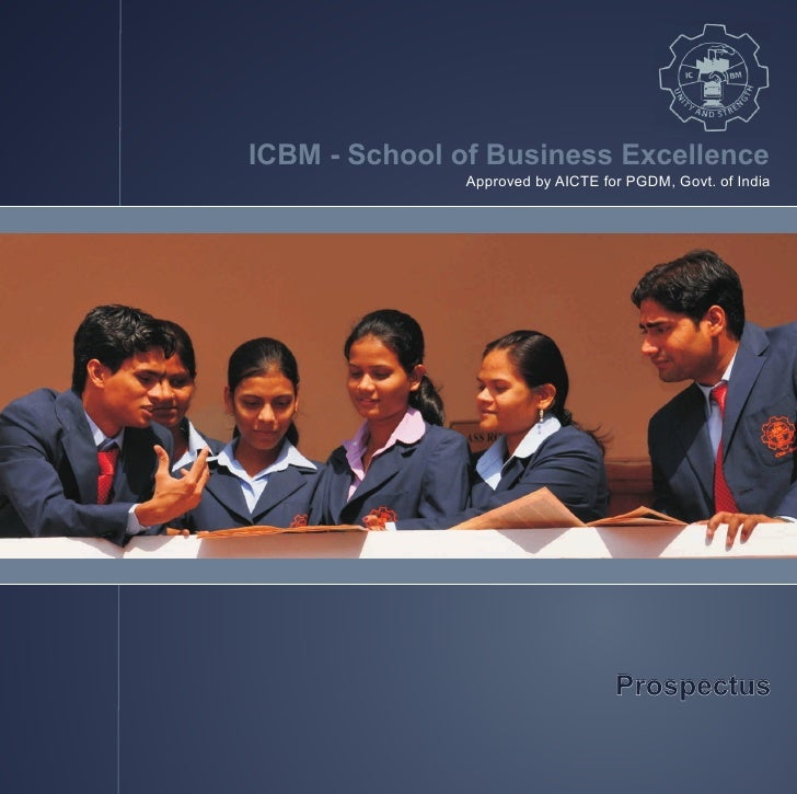 ICBM - School of Business Excellence                Approved by AICTE for PGDM, Govt. of India                            ...