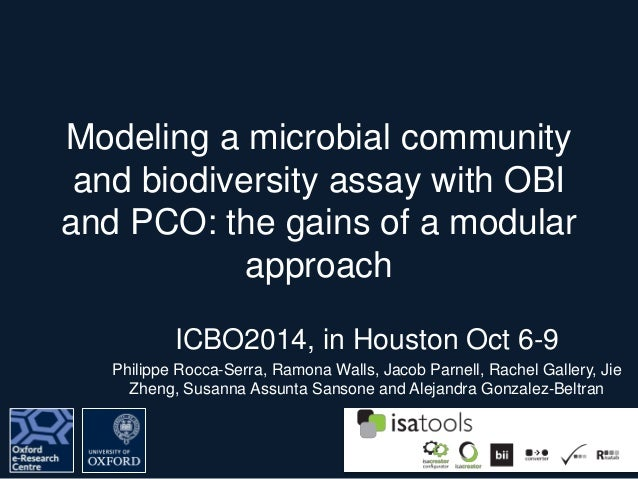 Modeling a Microbial Community and Biodiversity Assay with OBI and PC…