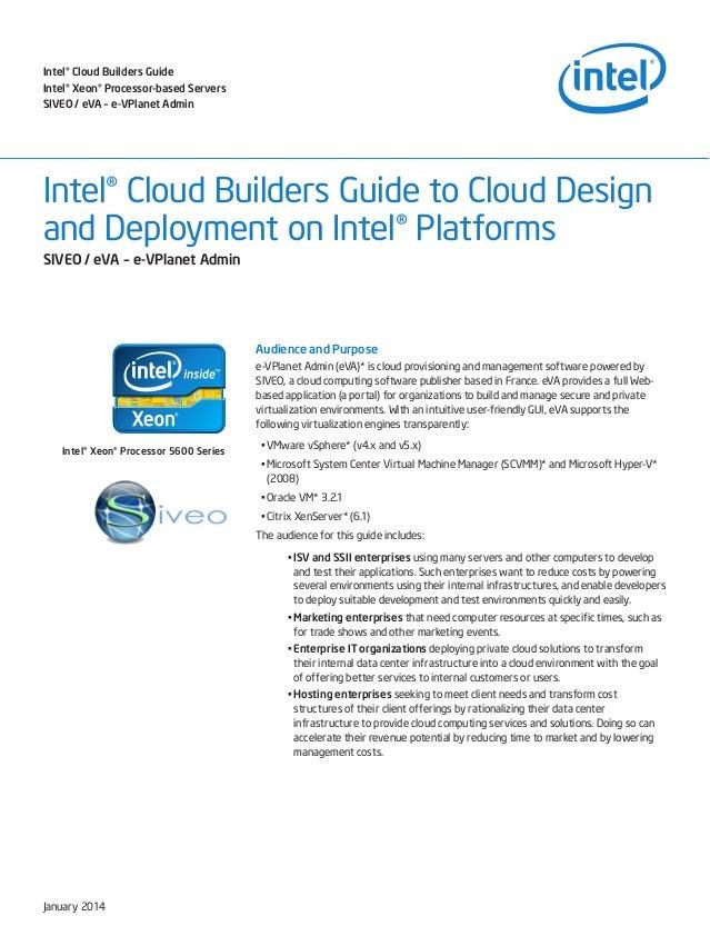 Intel® Cloud Builders Guide Intel® Xeon® Processor-based Servers SIVEO / eVA – e-VPlanet Admin  Intel® Cloud Builders Guid...
