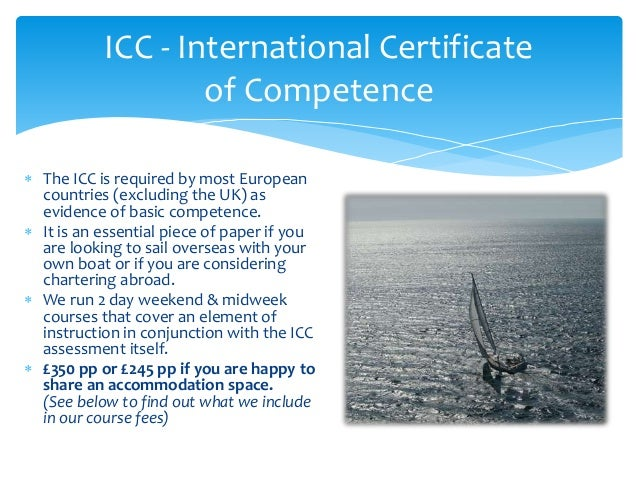 icc competence certificate international