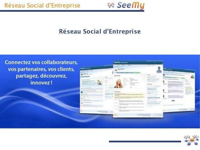 Réseau Social d'Entreprise Réseau Social d'Entreprise