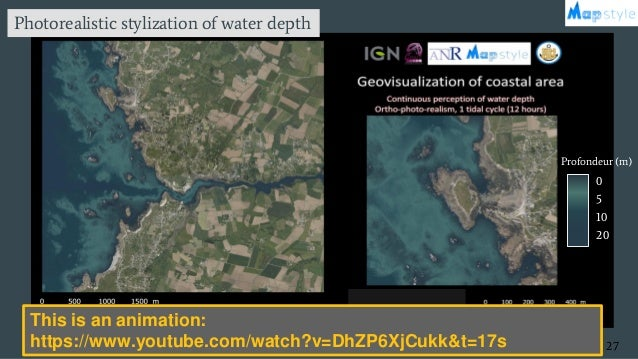 Temps x4000 27 0 5 10 20 Profondeur (m) (Masse & Christophe 2016) Photorealistic stylization of water depth This is an ani...
