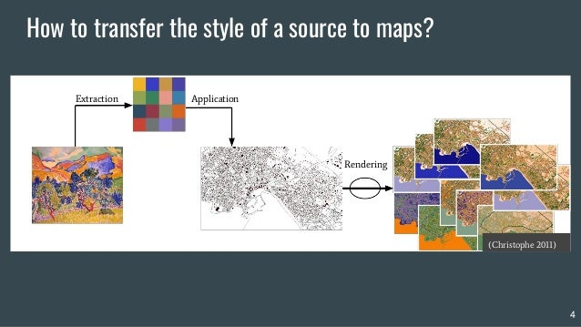 How to transfer the style of a source to maps? Extraction Application Rendering 4 (Christophe 2011)