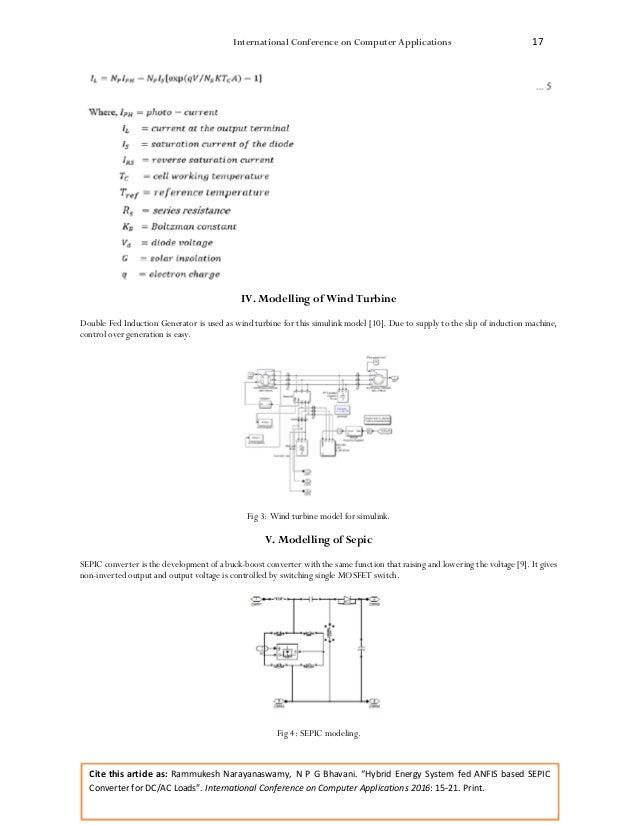 Hybrid Energy System fed ANFIS based SEPIC Converter for DC/AC Loads Slide 3