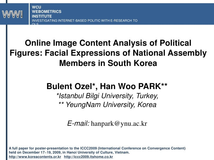 WCU<br />WEBOMETRICS<br />INSTITUTE<br />INVESTIGATING INTERNET-BASED POLITIC WITH E-RESEARCH TOOLS<br />WWI<br />Online I...
