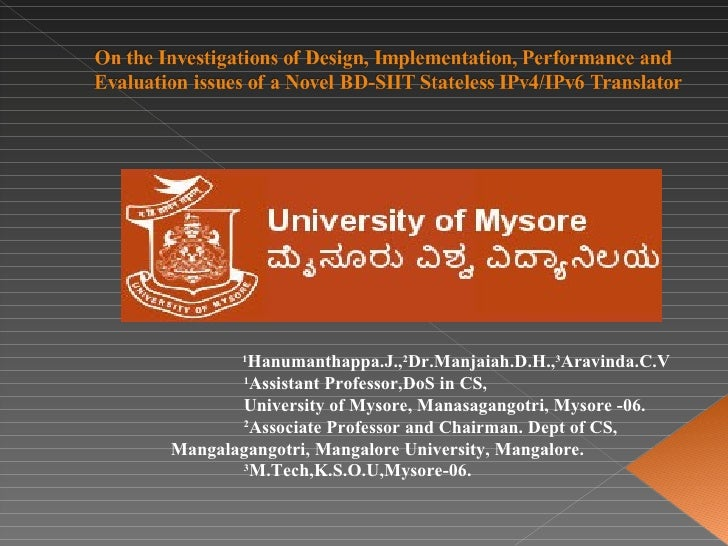 1 Hanumanthappa.J., 2 Dr.Manjaiah.D.H., 3 Aravinda.C.V 1 Assistant Professor,DoS in CS, University of Mysore, Manasagangot...