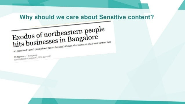 Why should we care about Sensitive content?
