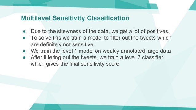 Multilevel Sensitivity Classification ● Due to the skewness of the data, we get a lot of positives. ● To solve this we tra...