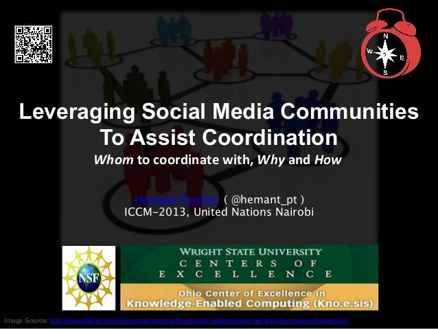 Leveraging Social Media Communities To Assist Coordination Whom	   to	   coordinate	   with,	   Why	   and	   How	    Hema...