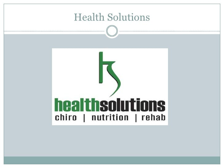Health Solutions<br />