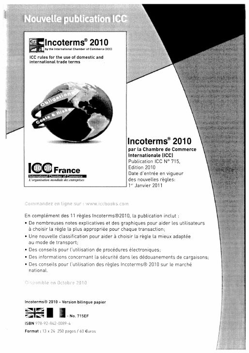 Icc Revue Echanges Sept 2010 Incoterms Complet Slide 2