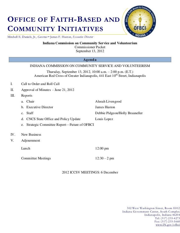 O FFICE OF F AITH -B ASED ANDC OMMUNITY I NITIATIVESMitchell E. Daniels, Jr., Governor • James F. Huston, Executive Direct...