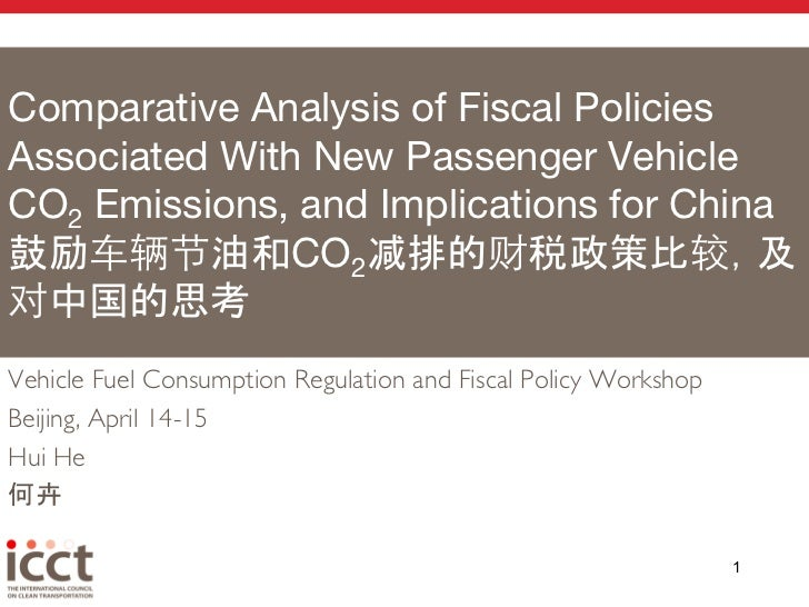 Comparative Analysis of Fiscal PoliciesAssociated With New Passenger VehicleCO2 Emissions, and Implications for China!    ...