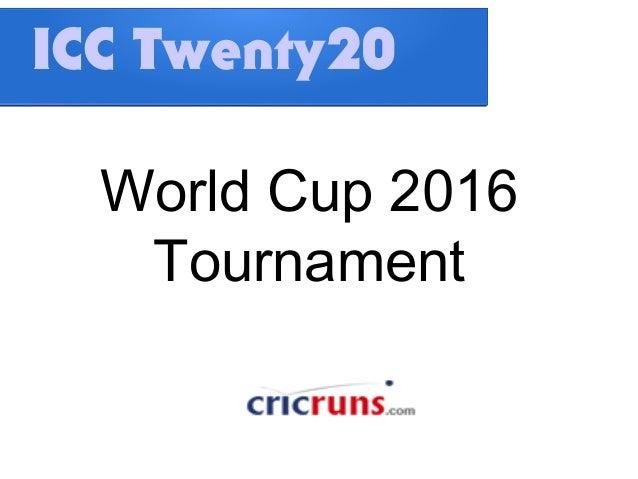 ICC Twenty20World Cup 2016Tournament
