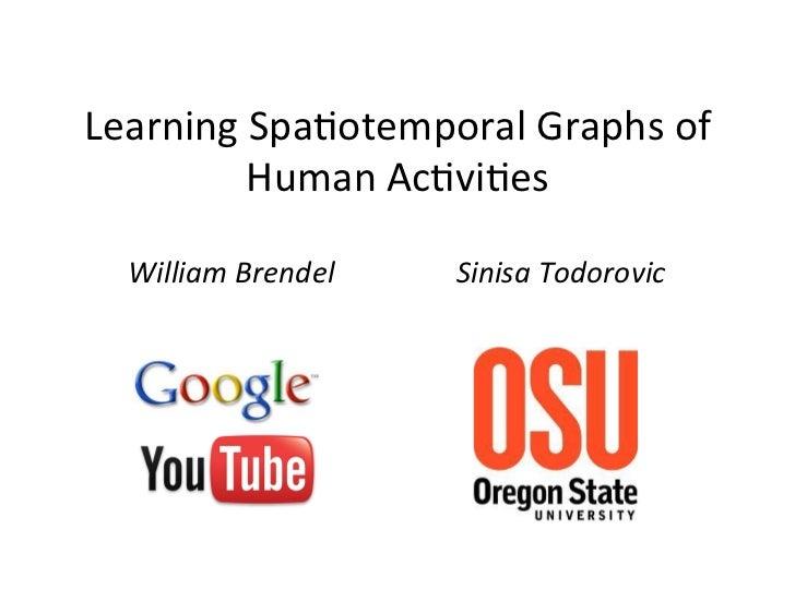 Learning Spa+otemporal Graphs of            Human Ac+vi+es    William Brendel    Sinisa Todorovic