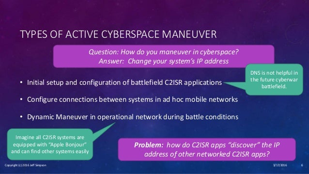 Jeff Simpson - Cyber Maneuver Warfare and Active Cyber Defense - from…