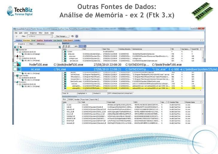 Outras Fontes de Dados: Análise de Memória – ex 3 (HBGary Responder)