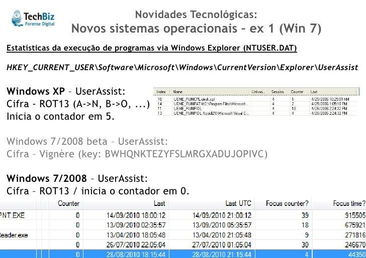Novidades Tecnológicas:               Novos sistemas de arquivo – ex 2 (ext4)   Análise dos metadados de MAC Times (Modifi...