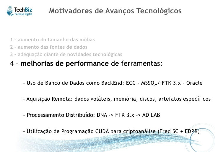 4 - Melhoria de Performance BackEnd Oracle / Processamento Distribuído – FTK