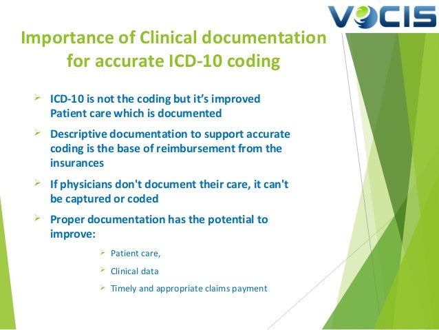 Importance of Clinical documentation for accurate ICD-10 coding - Med…