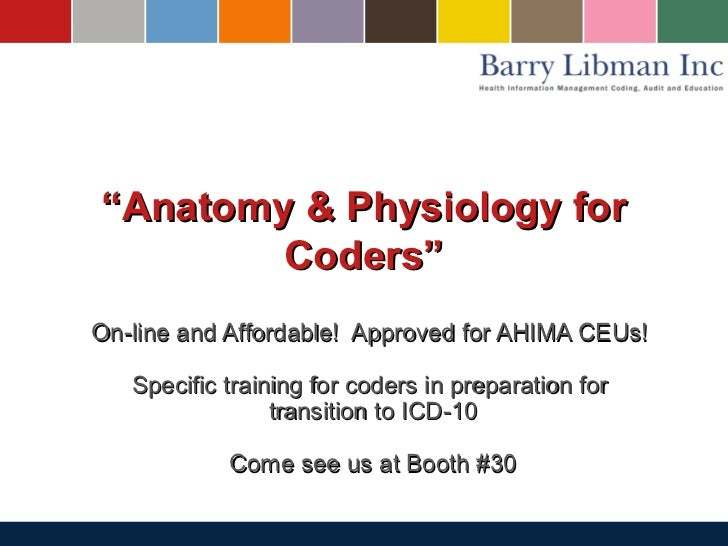 ICD 10 Anatomy & Physiology for Medical Coders