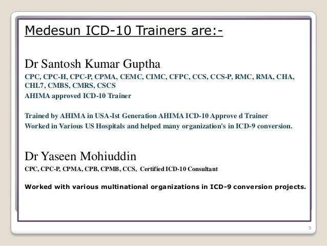 comprehensive icd-10 training india, bangalore, hyderabad, chennai, p…