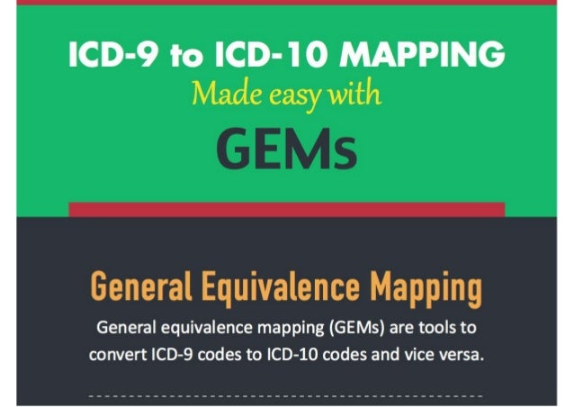General Equivalence Mappings ICD 9 to ICD 10 Mapping Made Easy with GEMs General Equivalence Mappings