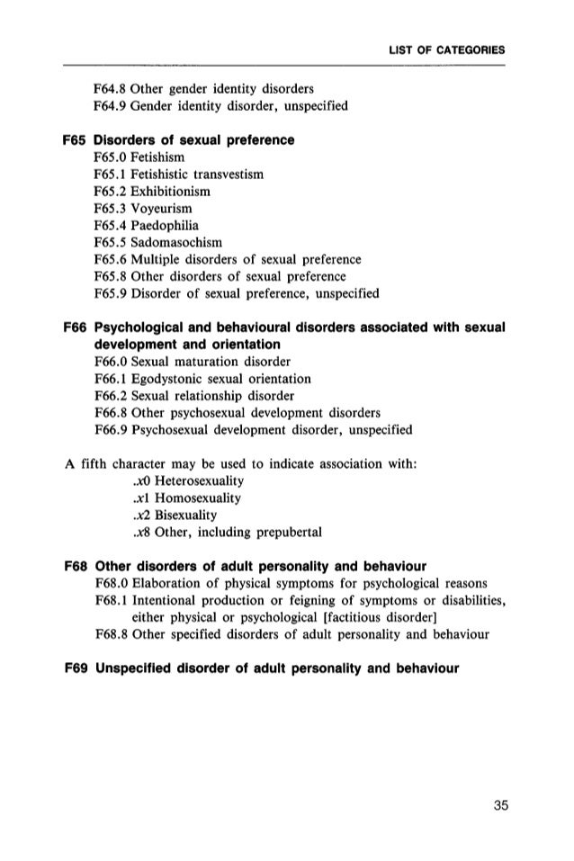 icd 10 classification of mental and behavioural disorder