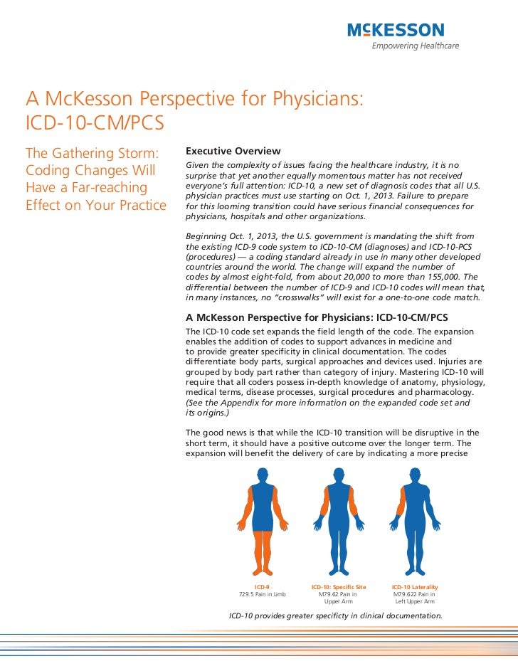 A McKesson Perspective for Physicians:ICD-10-CM/PCSThe Gathering Storm:      Executive Overview                          G...