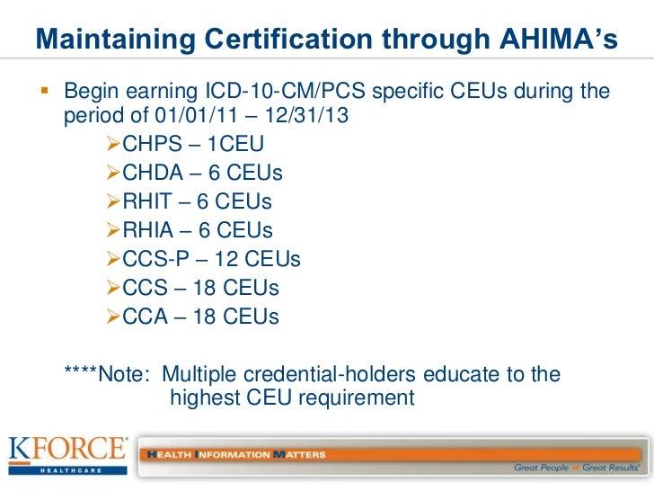 icd ahima certification cortnie simmons