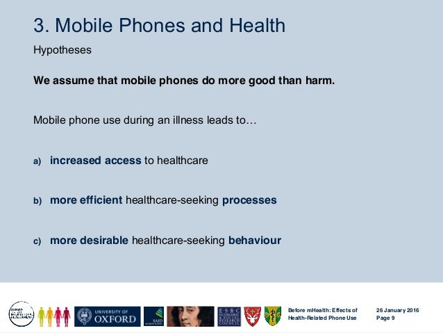 Before Mhealth How People S Health Related Mobile Phone