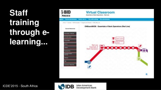 ICDE'2015 - South Africa Staff training through e- learning... 11