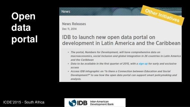 ICDE'2015 - South Africa Open data portal 16